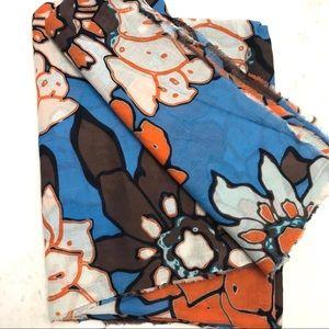 Zara square cotton scarf